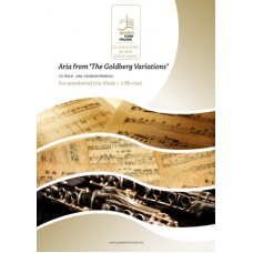 Aria from 'Goldberg Variations' - woodwind trio (flute - 2 Bb clar)
