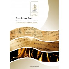 Duet for two Cats - 2 voices and horn quartet