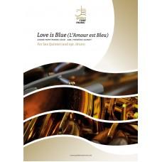 Love is Blue (L' Amour est Bleu) - sax quintet (+ opt.drum)