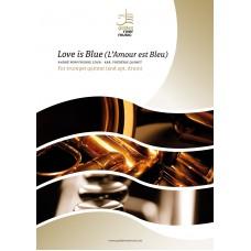Love is Blue (L' Amour est Bleu) - trompet kwintet (+opt. drums)