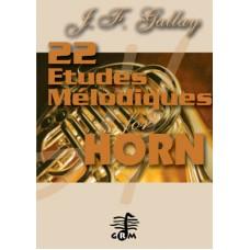 22 études mélodiques - horn