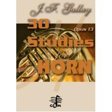 30 studies op. 13 - horn