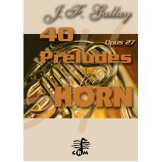 40 préludes - horn