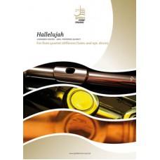 Hallelujah - flute quartet (diff. flutes + opt. drum)